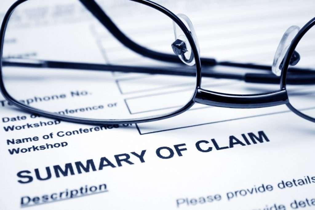 insurance company claim
