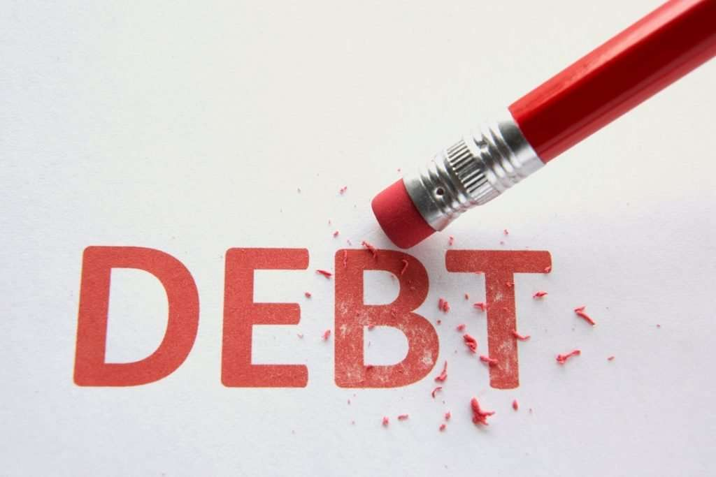 wiping out debt